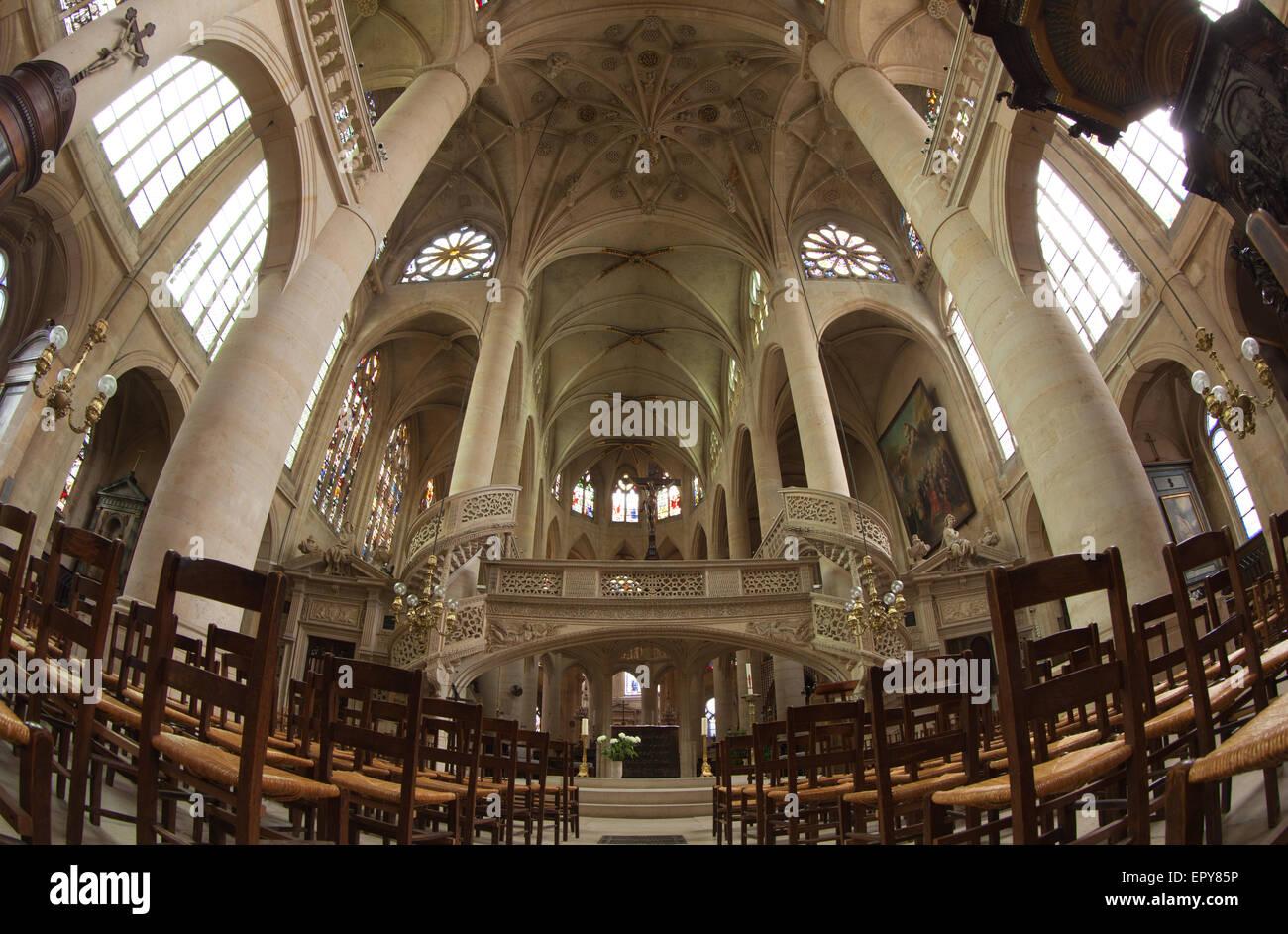 The church of Saint-Etienne-du-Mont, Paris, France. - Stock Image