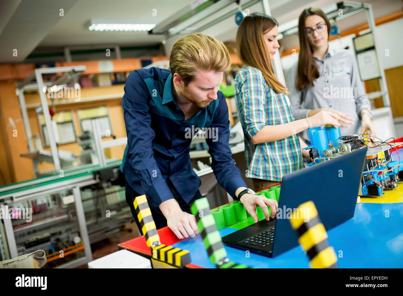 Young People In The Robotics Classroom Stock Photo 82967965 Alamy