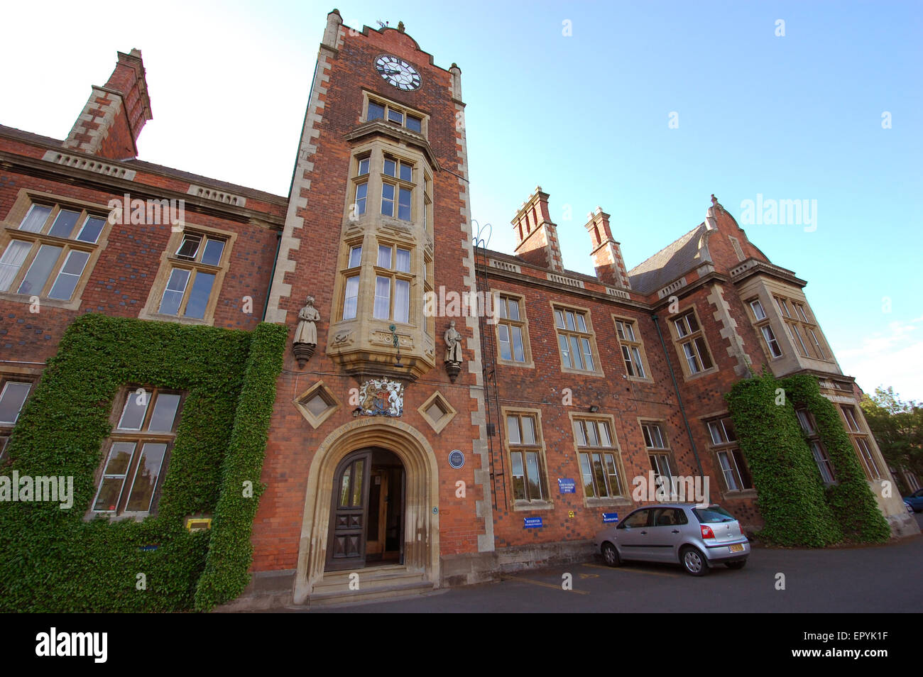 The Royal School, Wolverhampton - Imposing front view of the Victorian building. - Stock Image