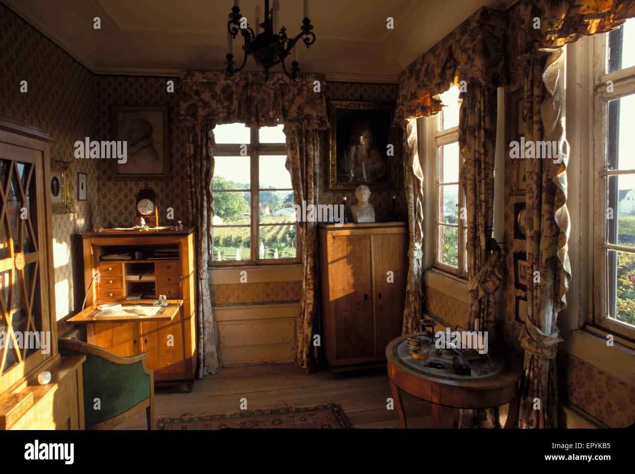 DEU, Germany, Oestrich Winkel, The Goethe Room At The Brentano House,