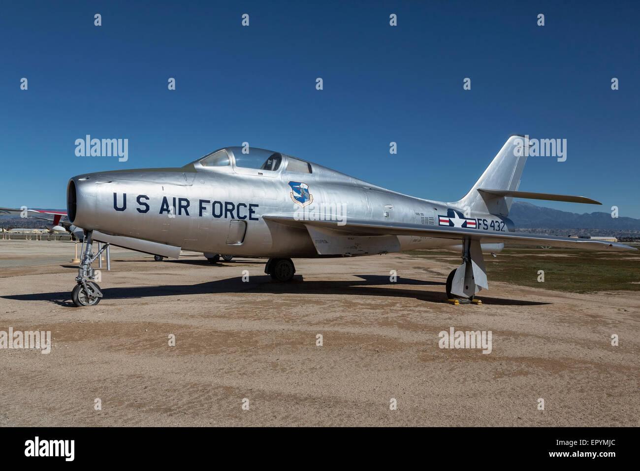 Republic F84 Thunderstreak of the USAF - Stock Image