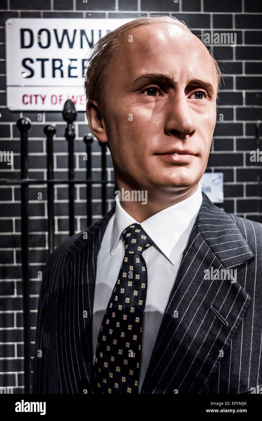 Vladimir Putin at Madame Tussauds London - Stock Image