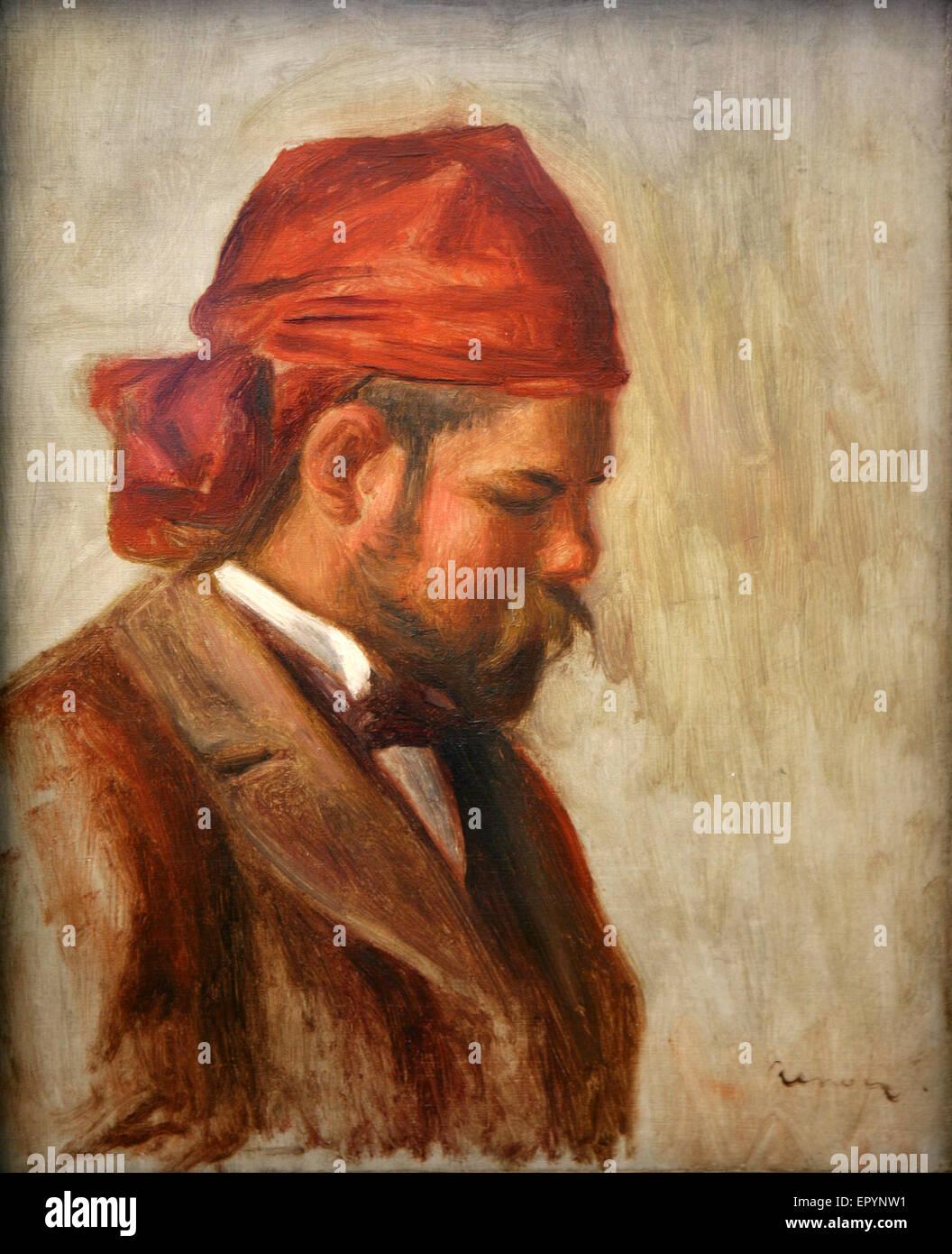 Pierre-Auguste Renoir  - 1899 - Ambroise Vollard au foulard rouge - Stock Image