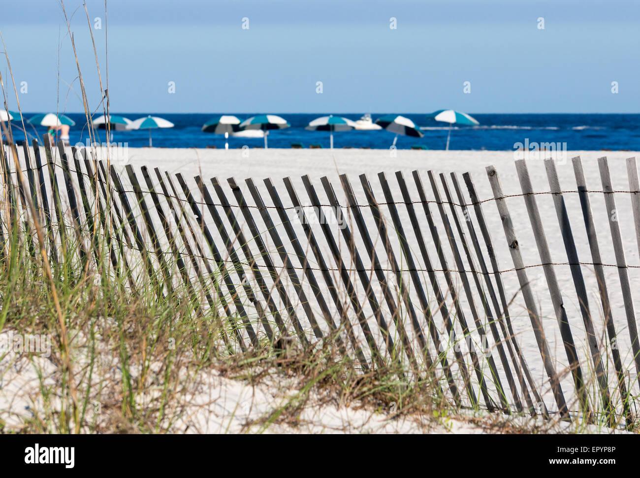 A scene on the Alabama Gulf Coast. - Stock Image