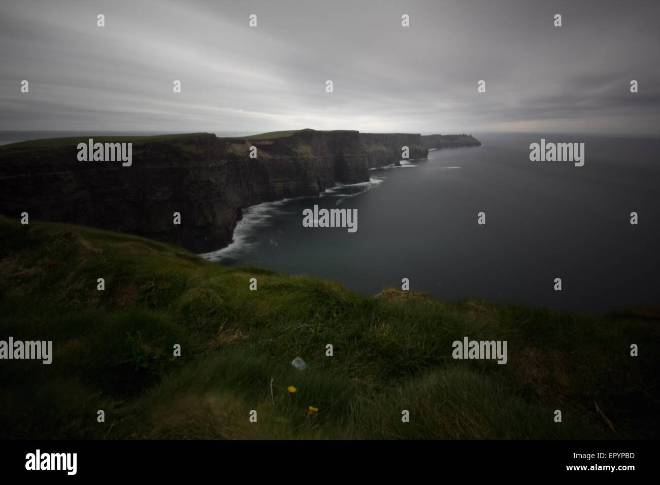 a view of Cliff of Moher,Ireland - Stock Image