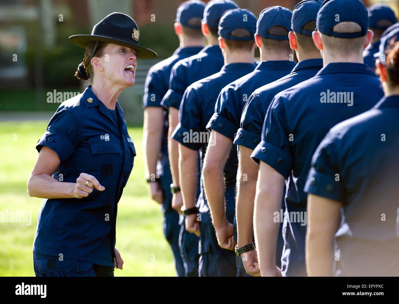 U S  Coast Guard Company Commanders from Training Center