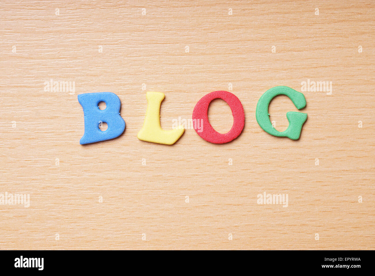 blog in foam rubber letters - Stock Image