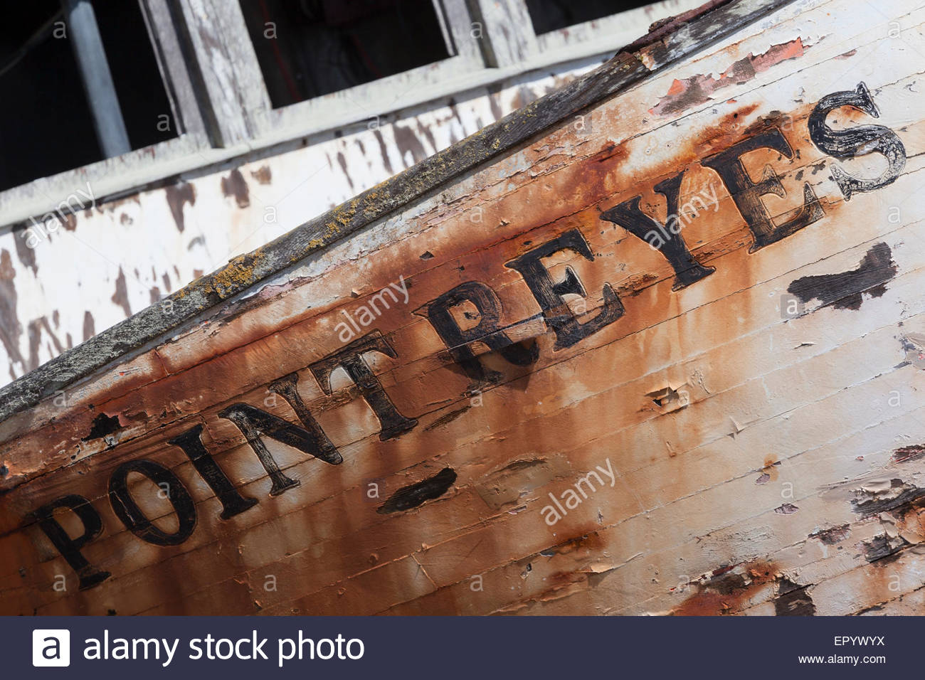 Point Reyes Shipwreck, Inverness, California - Stock Image