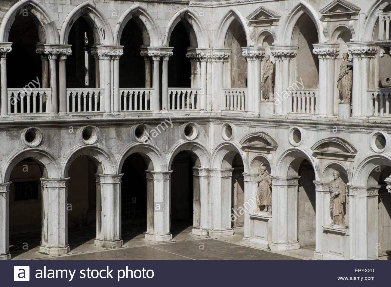 Palazzo Ducale Courtyard Venice Italy Stock Photo 82977061 Alamy