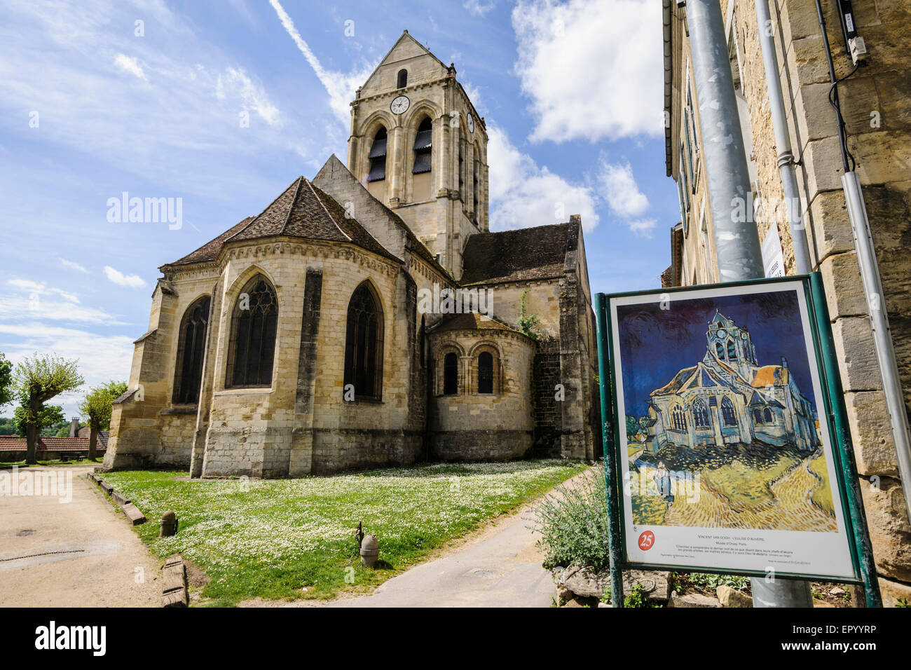 the church of auvers sur oise auvers sur oise the village where stock photo 82978442 alamy. Black Bedroom Furniture Sets. Home Design Ideas
