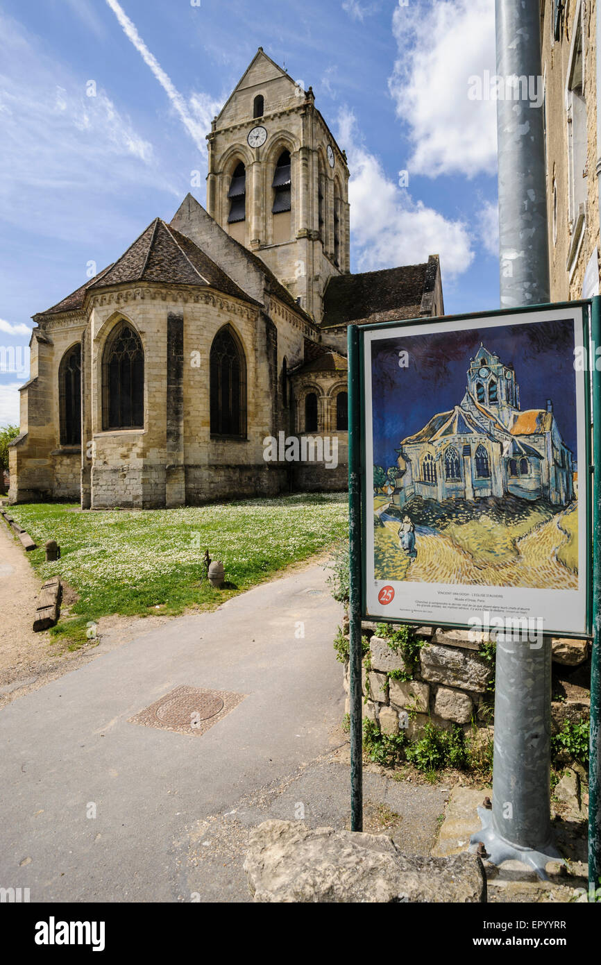 the church of auvers sur oise auvers sur oise the village where stock photo 82978443 alamy. Black Bedroom Furniture Sets. Home Design Ideas