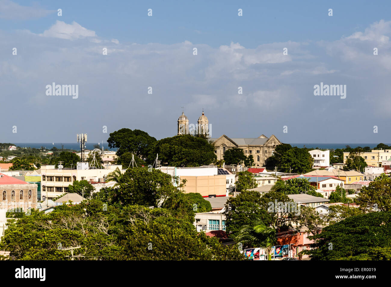 St. John the Divine Cathedral, Saint John's, Antigua - Stock Image