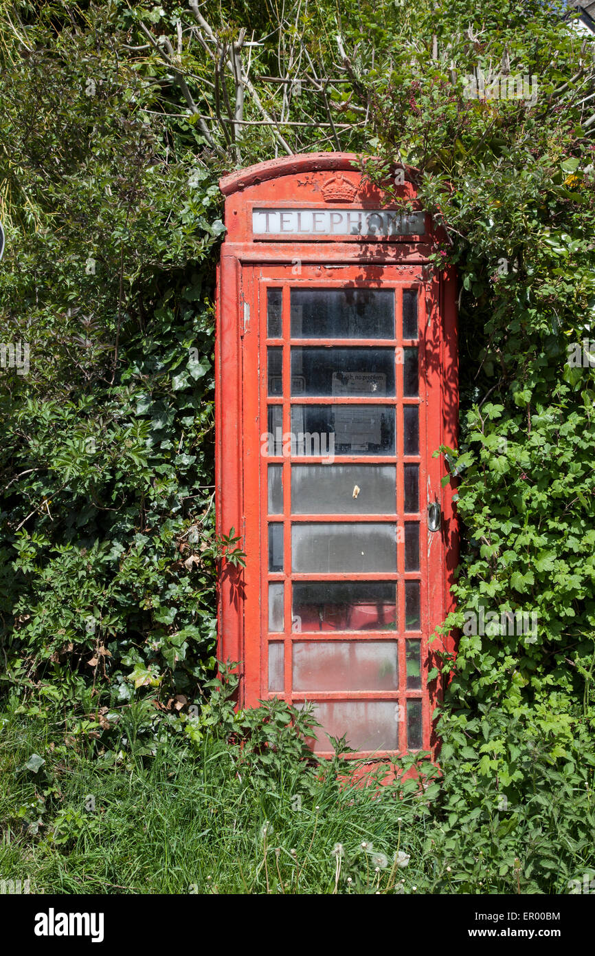 Old Telephone Kiosk - Stock Image
