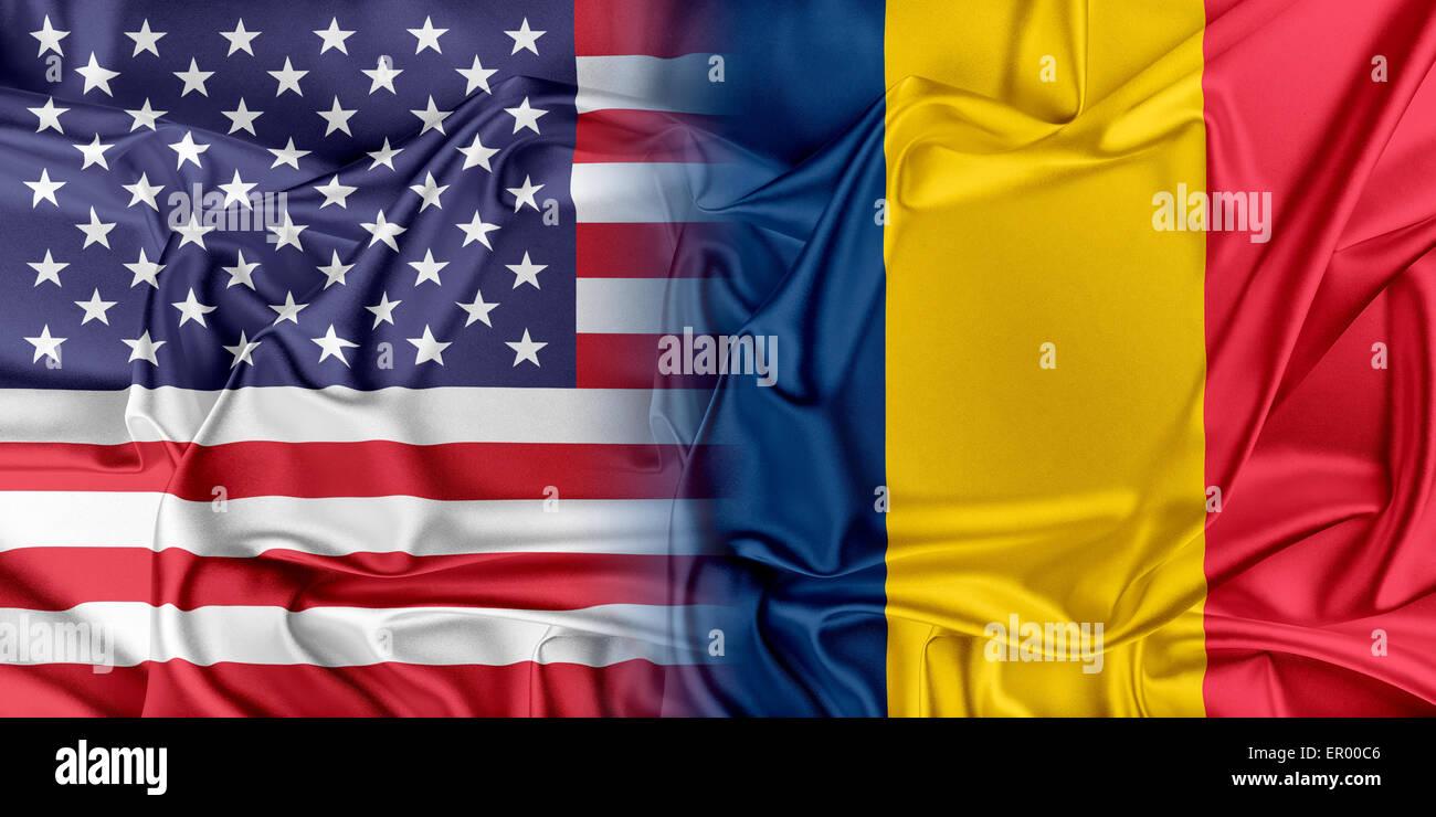 USA and Chad Stock Photo