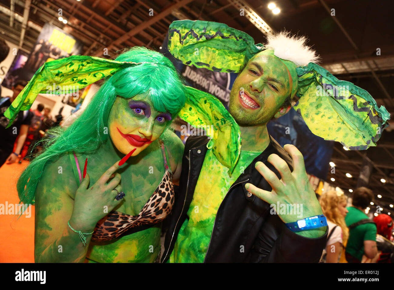 London, UK. 23rd May 2015. Participants at MCM Comic Con, Excel, London 2015 where fans dressed as their favourite - Stock Image