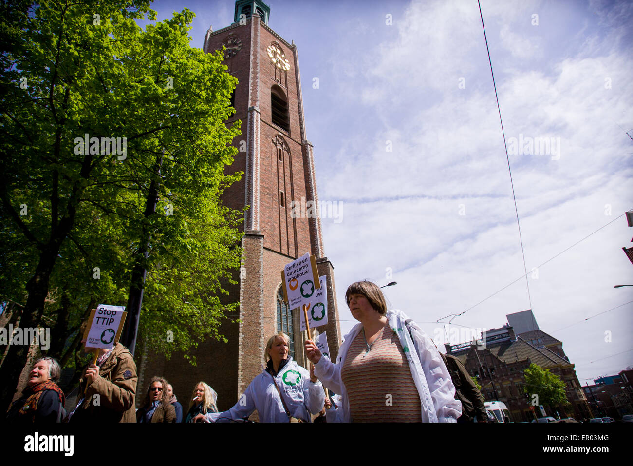 The Hauge, The Netherlands. 23rd May, 2015. On Saturday May 23rd 2015 around 100 people took part in the March Against Stock Photo