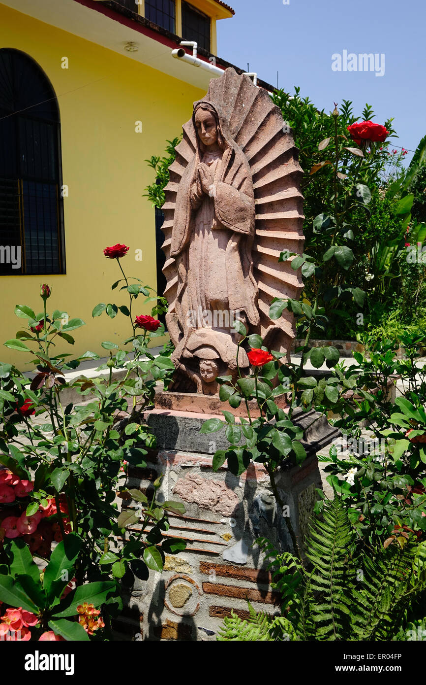 Catholic Church, El Tuito, Mexico, Statue Of The Virgin Mary, Virgin Of