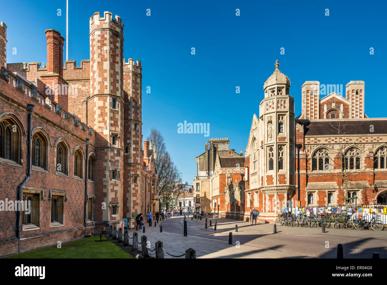 St John's College Cambridge is a college of Cambridge University - Stock Image