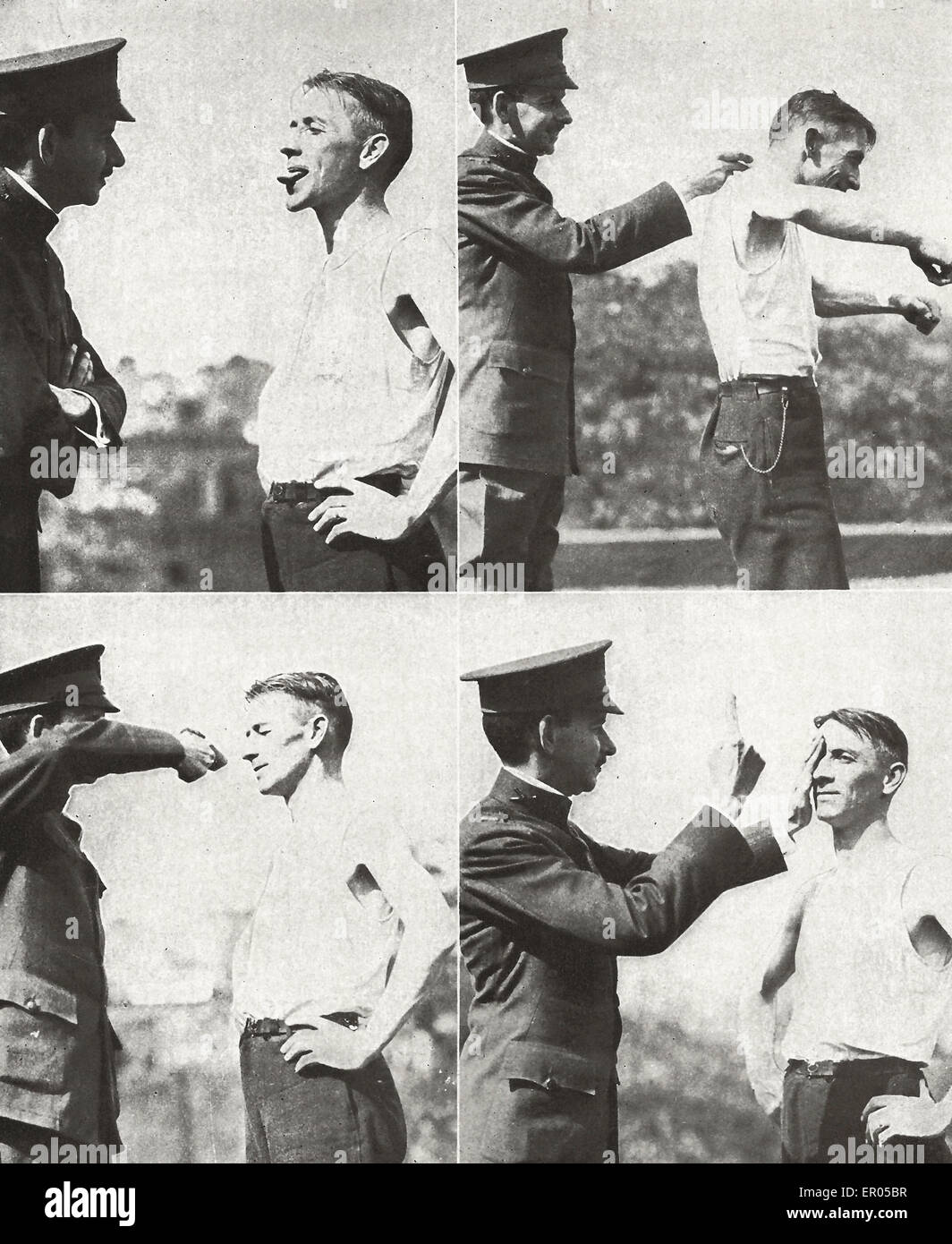 Only the physically fit were wanted - USA Draft 1917 - Stock Image