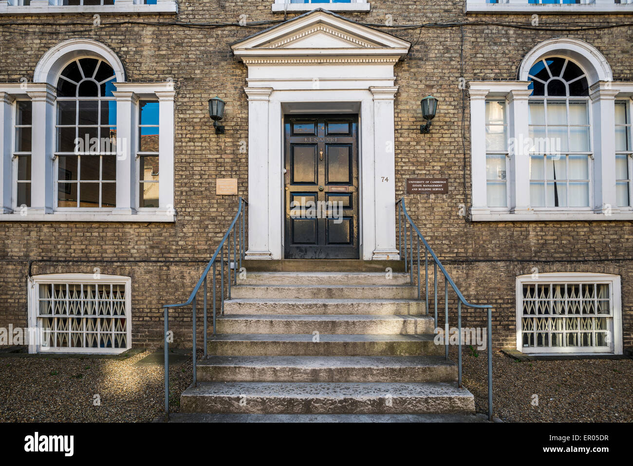The front entrance to Kenmare, the office of the University of Cambridge Estate Management and Building Service - Stock Image