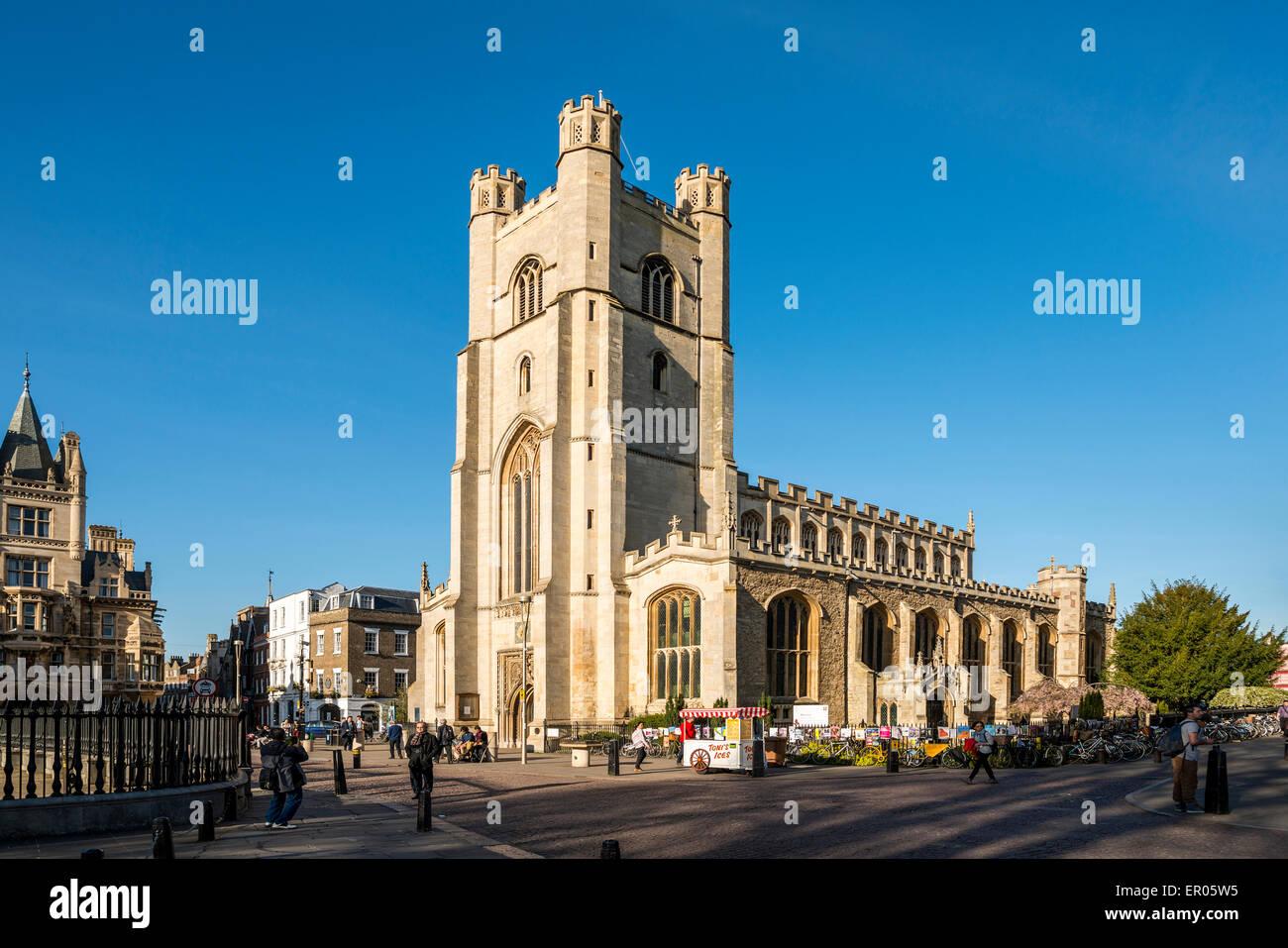 Great St Mary's Church is the University Church of Cambridge University - Stock Image
