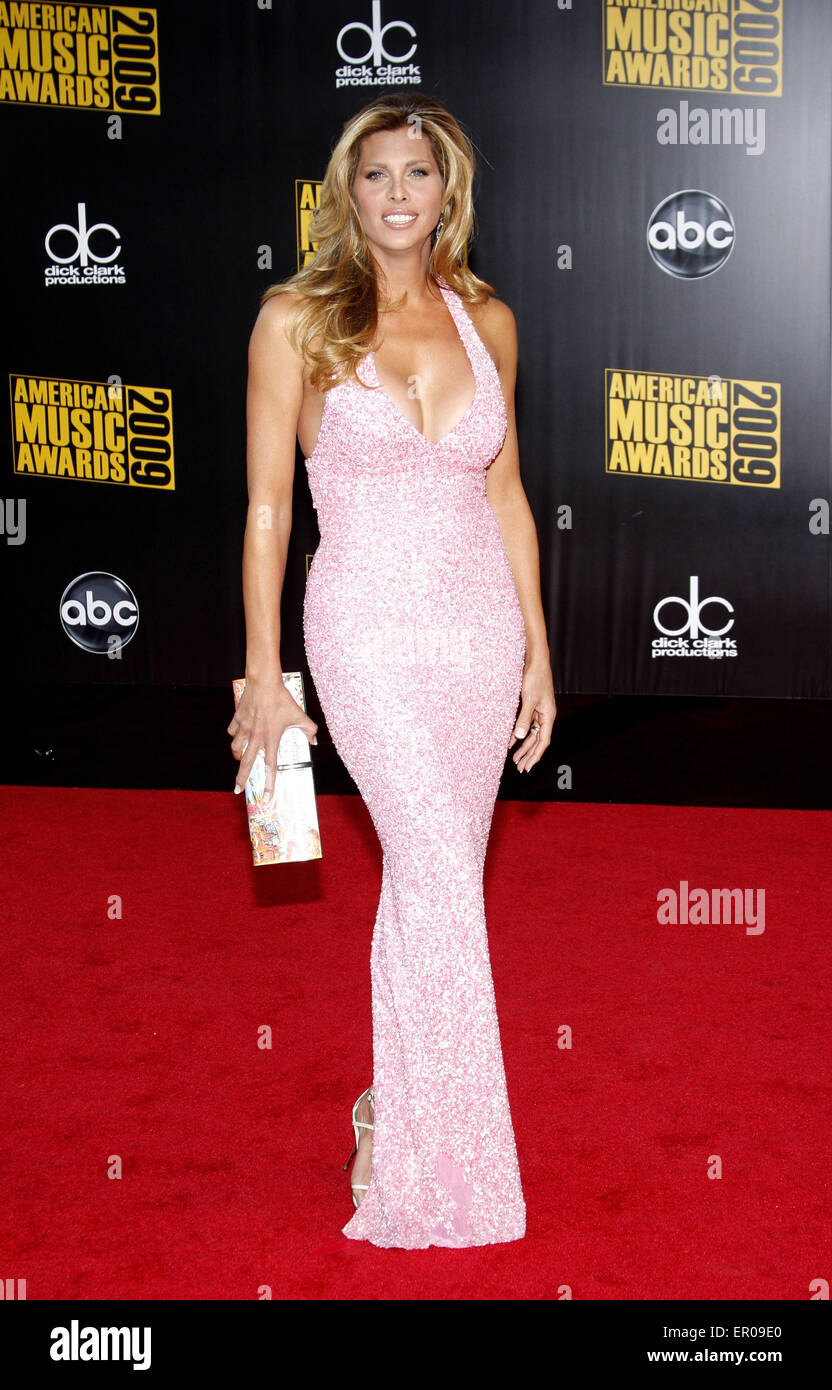 Candis Cayne at the 2009 American Music Awards held at the Nokia Theater in Los Angeles on November 22, 2009. - Stock Image