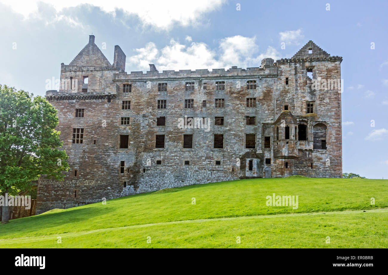 North view of Linlithgow Palace - birth-place of Mary Queen of Scots - In Linlithgow West Lothian Scotland Stock Photo