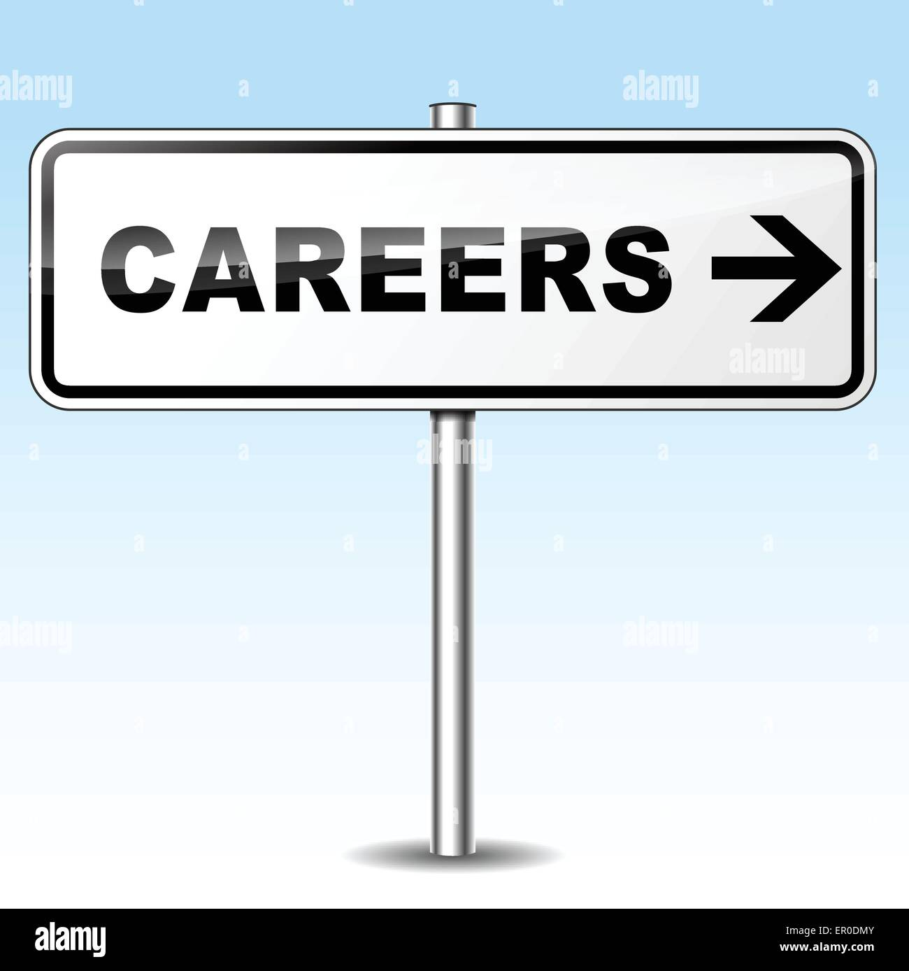 Illustration of careers sign on sky background - Stock Vector