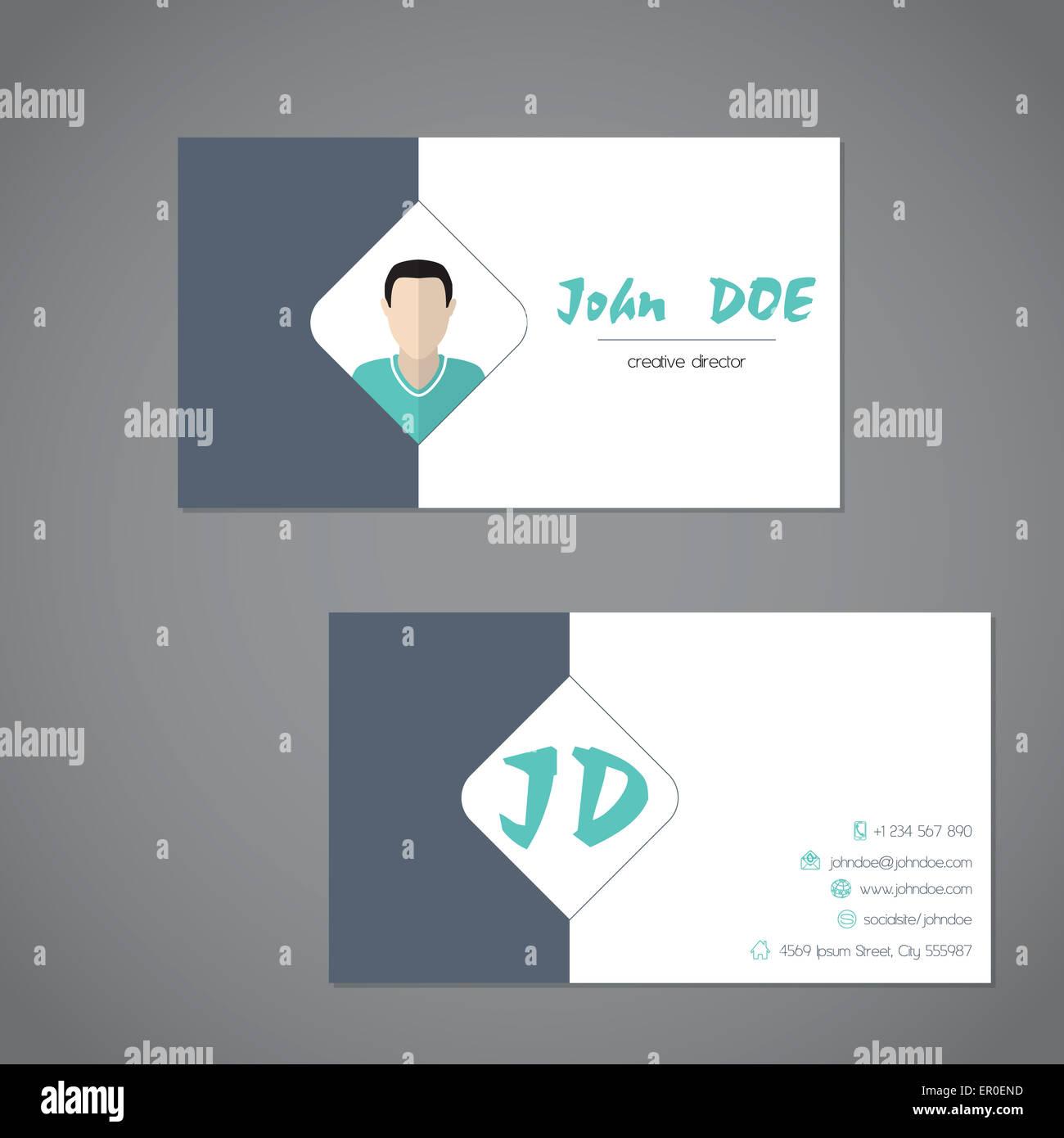 Business Card Design Simplistic Presentation Stock Photos & Business ...
