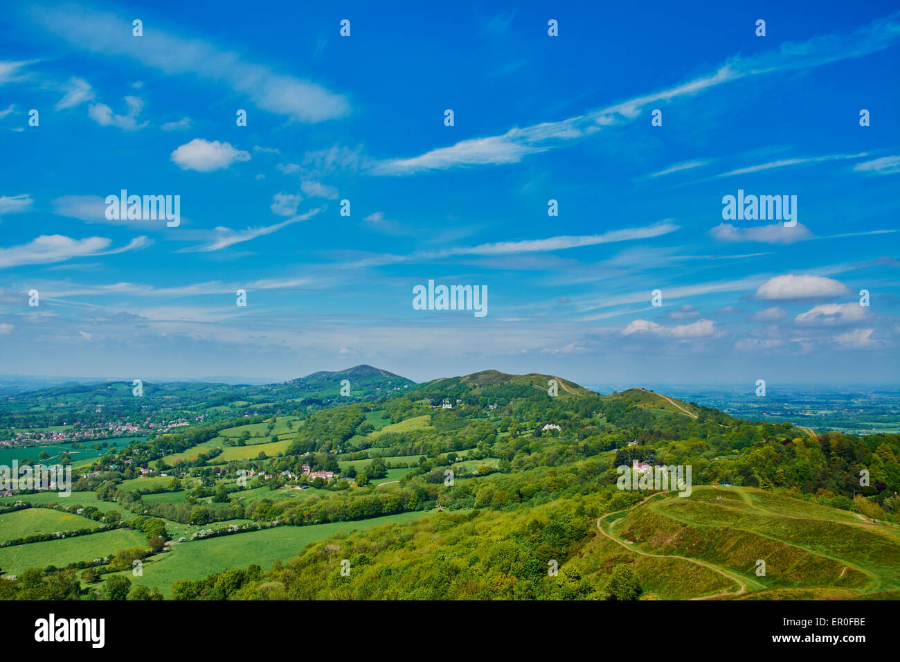 Scenes from Malvern Hills in Worcestershire, UK - Stock Image