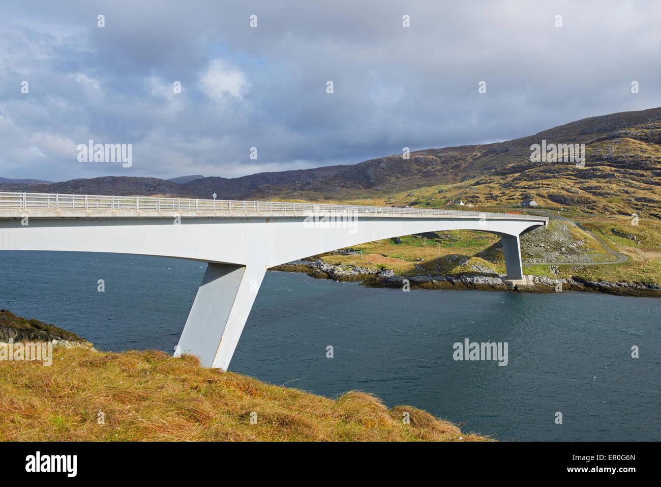 Scalpay Bridge, linking Harris to the island of Scalpay, Outer Hebrides, Scotland UK - Stock Image