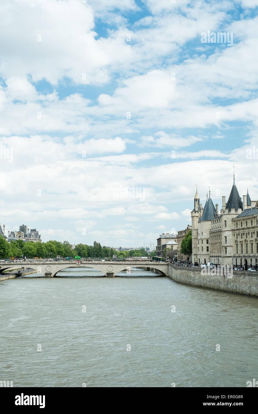 The River Seine, Paris France - Stock Image