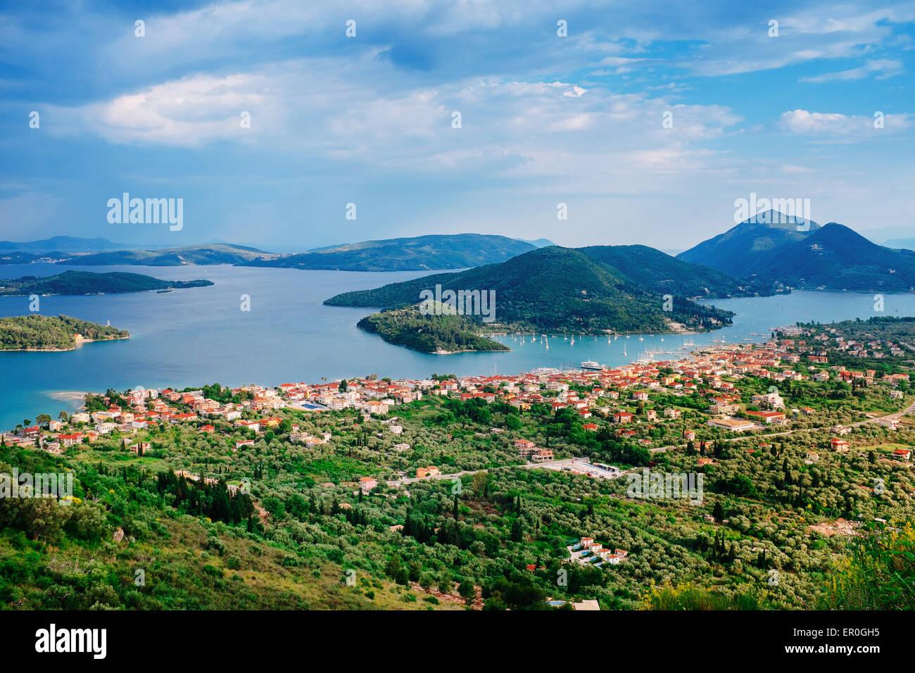 Ionian islands landscape, Lefkada Greece - Stock Image