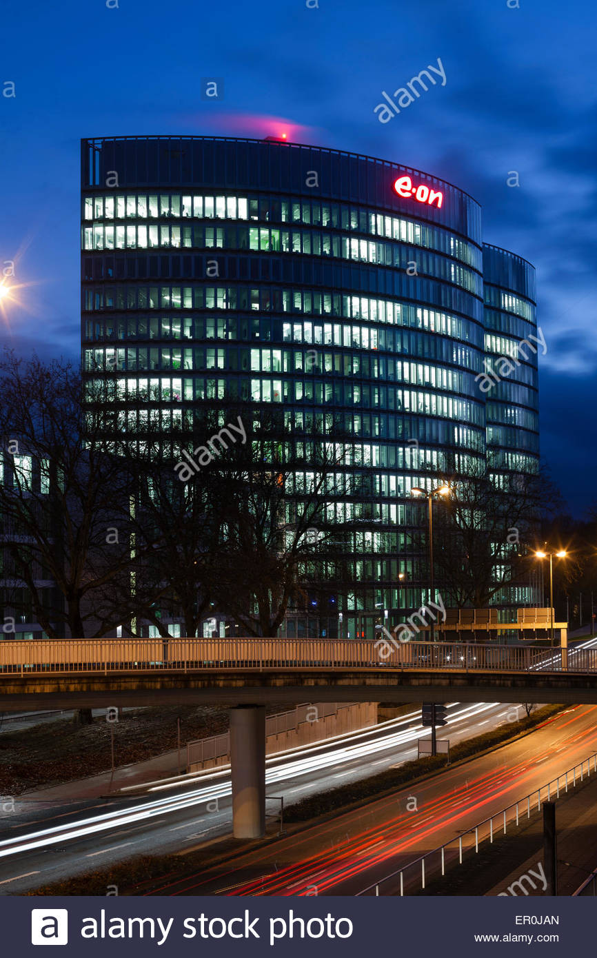 principal office of german electric utility service provider E.ON in Essen, Germany - Stock Image