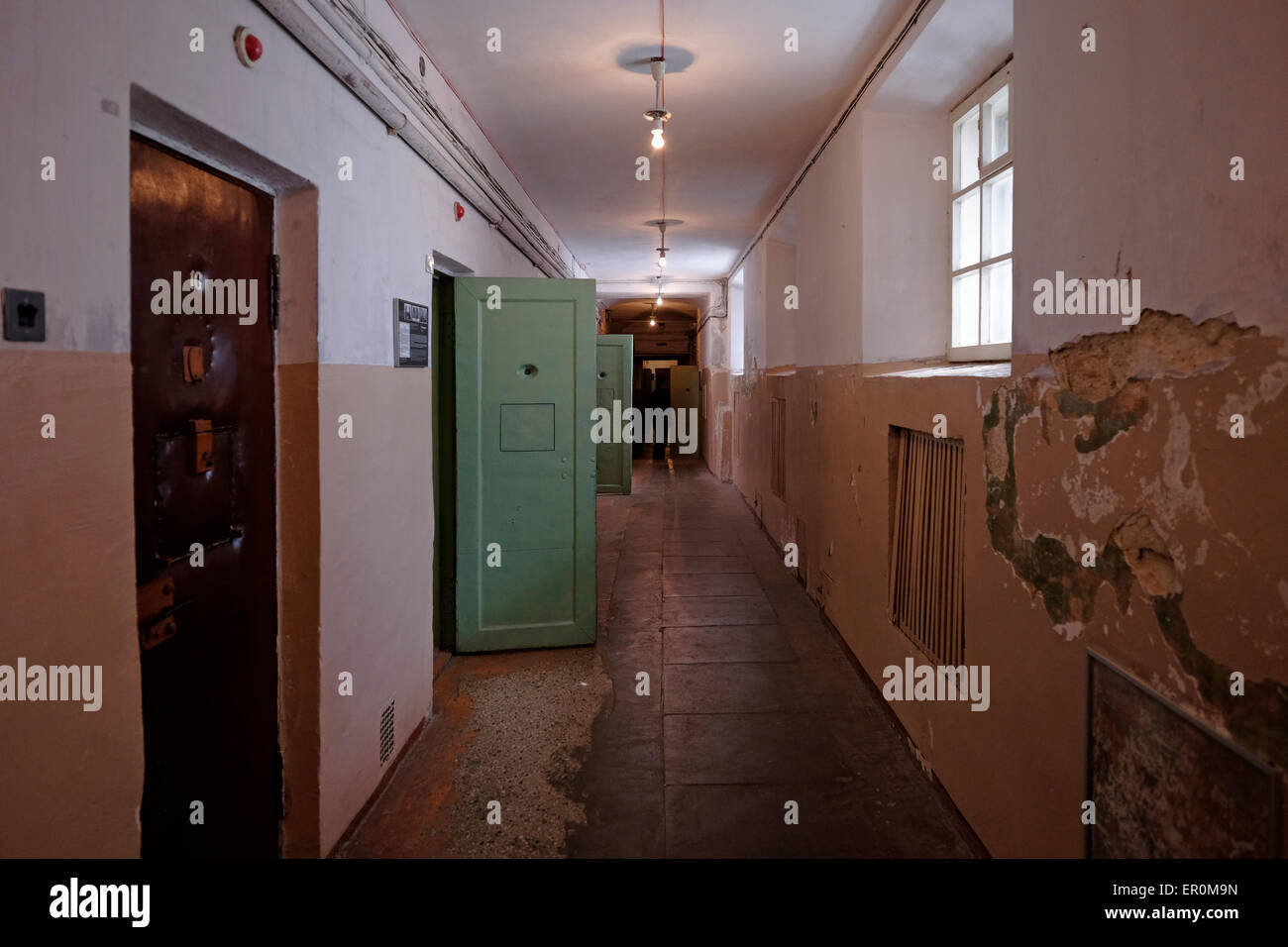 The former KGB prison now the museum of Genocide Victims in the city of Vilnius capital of Lithuania - Stock Image