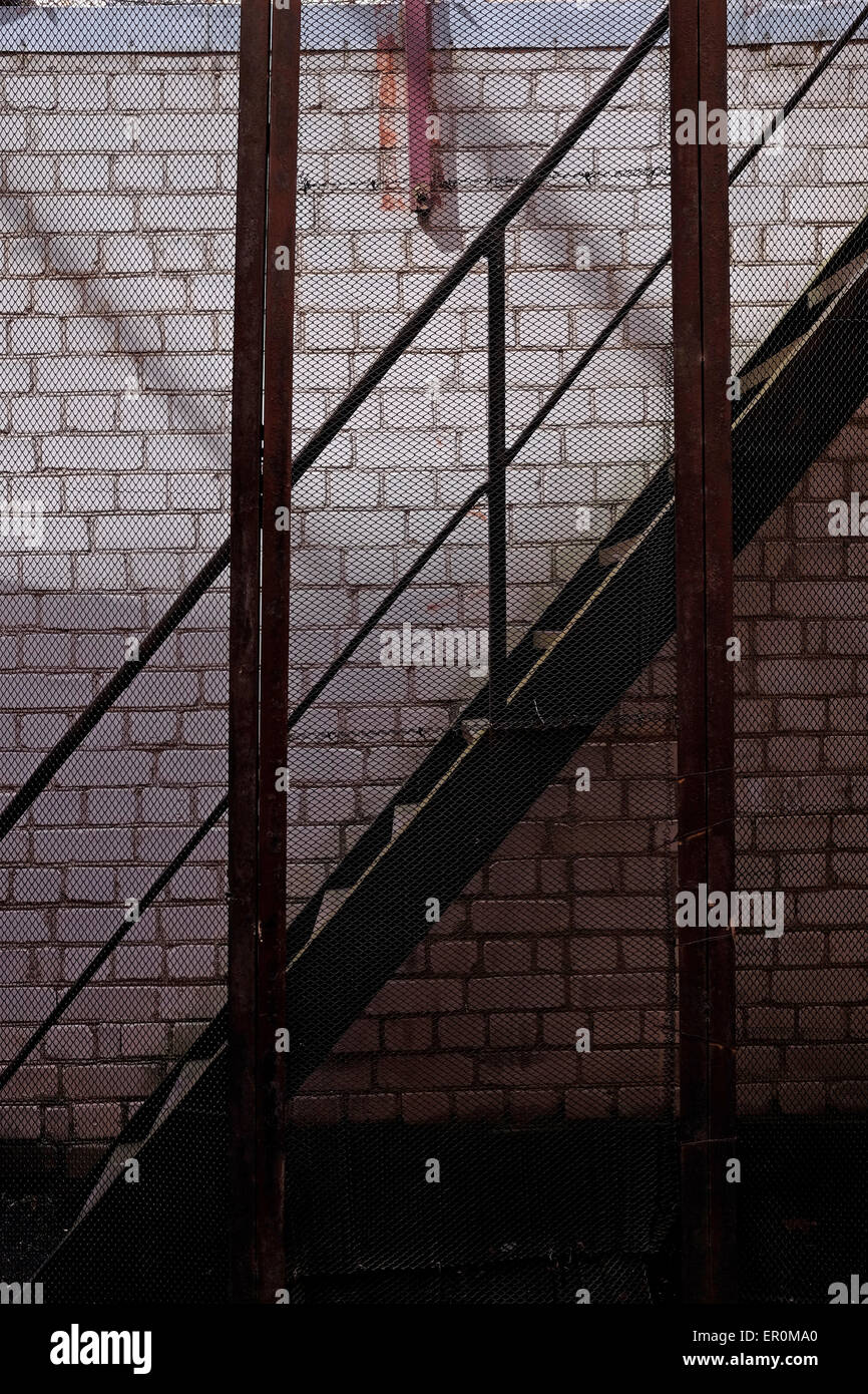 The prison courtyard at the former KGB prison now the museum of Genocide Victims in the city of Vilnius capital - Stock Image