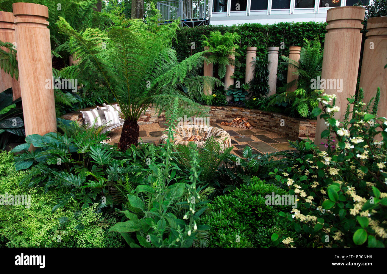 The Time in Between Husqvarna and Gardena Garden by Charlie Ablone RHS Chelsea Flower Show 2015 - Stock Image