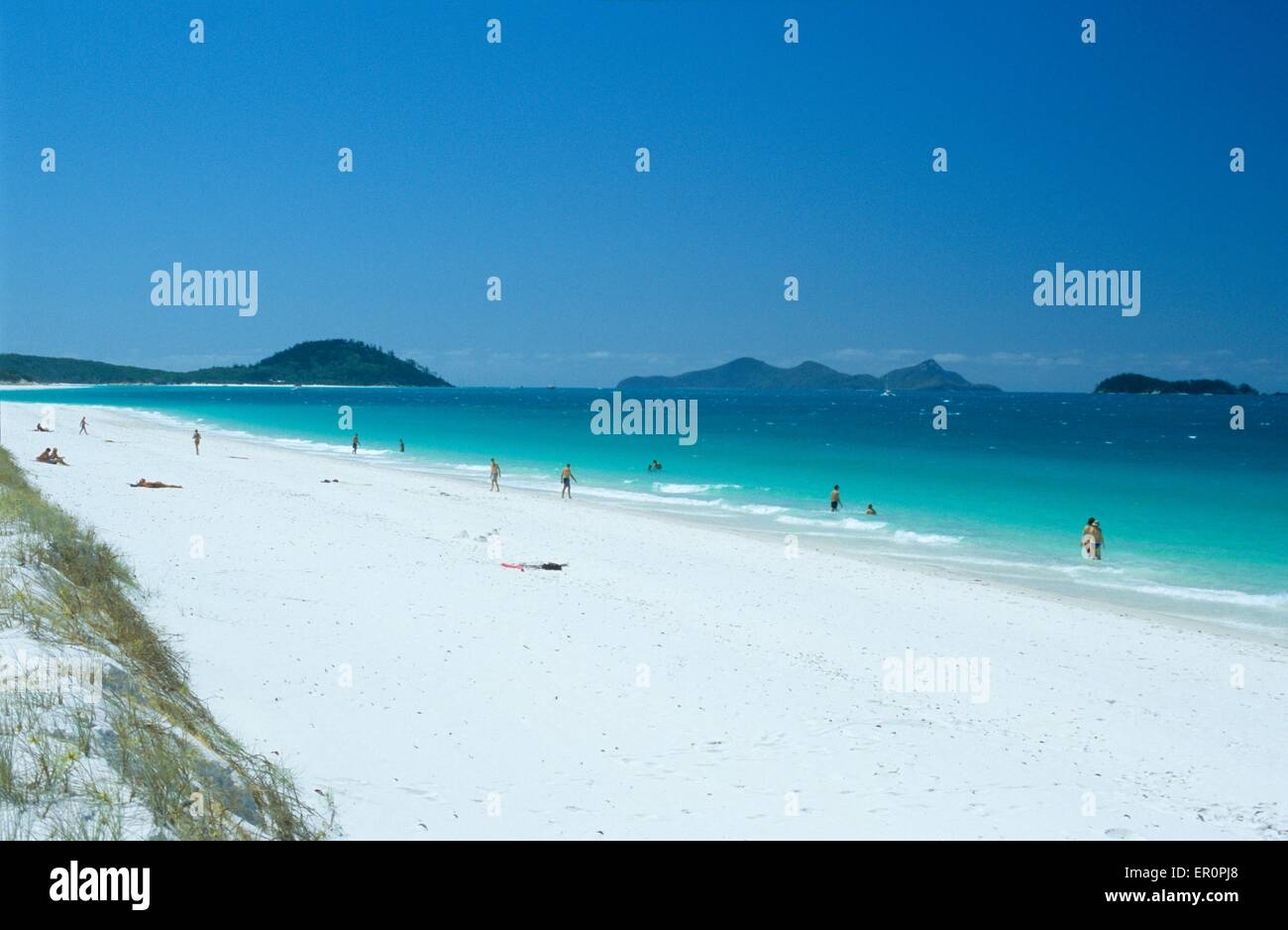 Australia, Queensland, Whitsunday island, Whitehaven beach - Stock Image