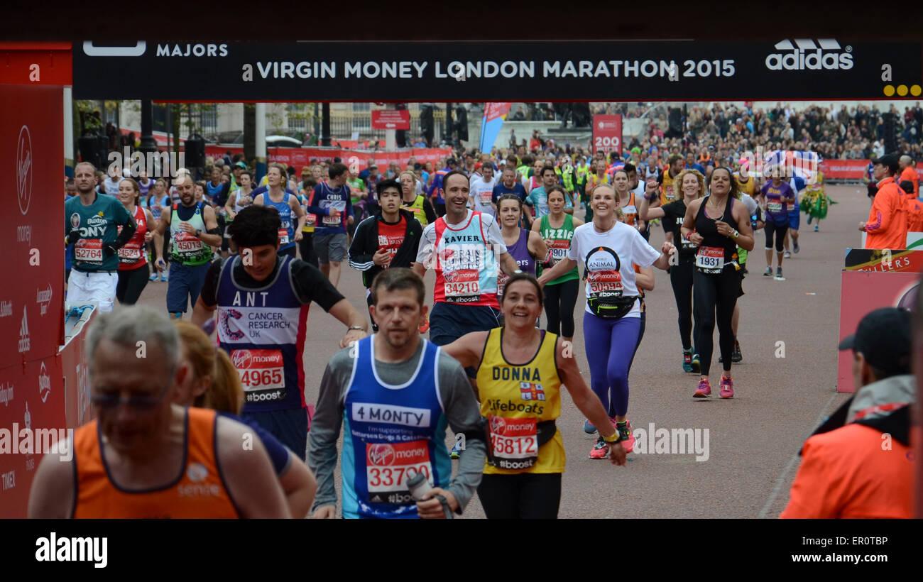 Virgin Money London Marathon 2015 Stock Photo