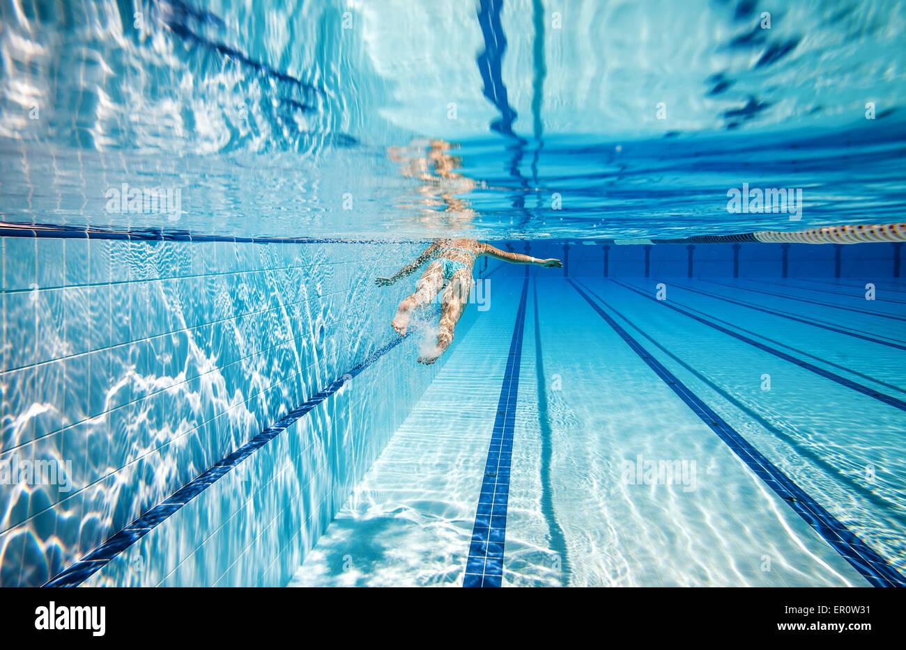 Swimming Pool Lane Lines Water Stock Photos & Swimming Pool ...