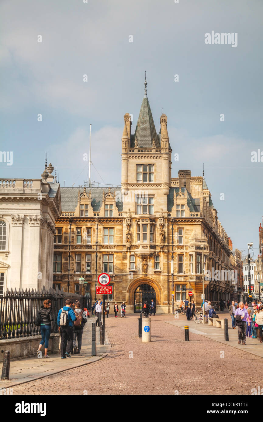 Cambridge, UK - April 9: Senate House on April 9, 2015 in Cambridge, UK. It's a university city. - Stock Image