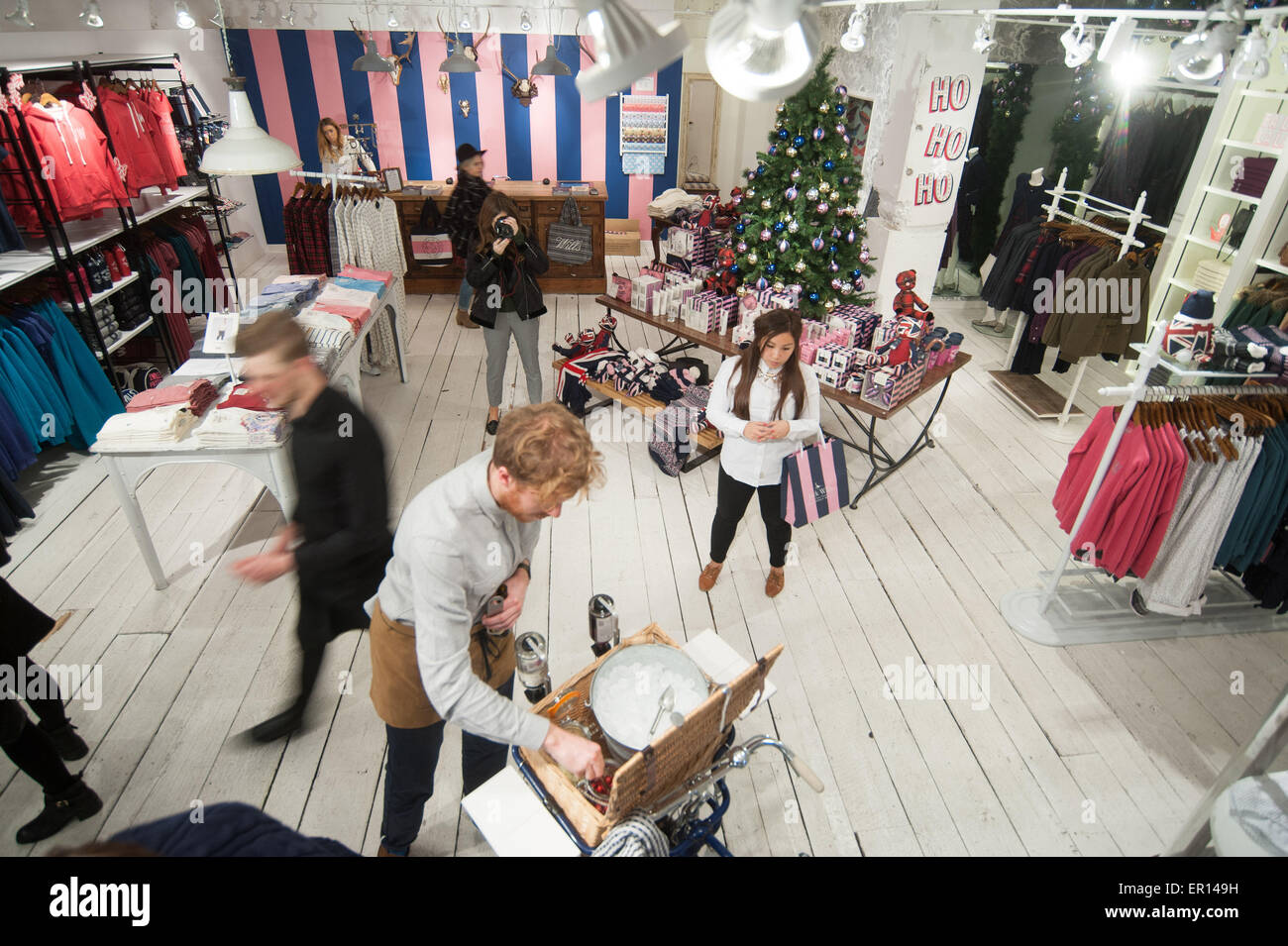 Jack Wills Christmas Party held in Carnaby Street.  Featuring: View Where: London, United Kingdom When: 19 Nov 2014 - Stock Image