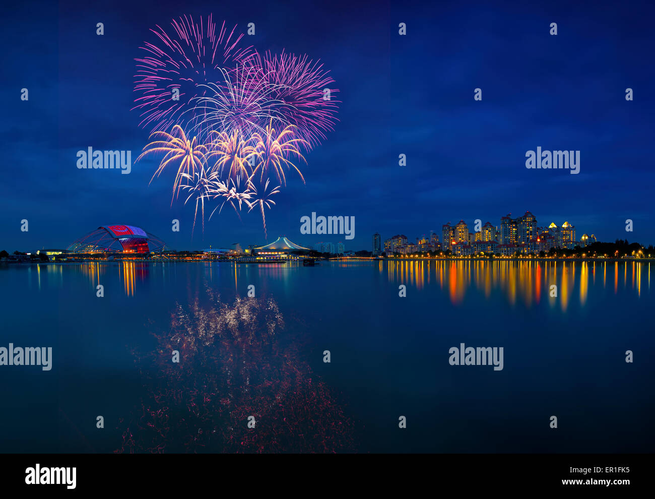 SEA games fireworks - Stock Image