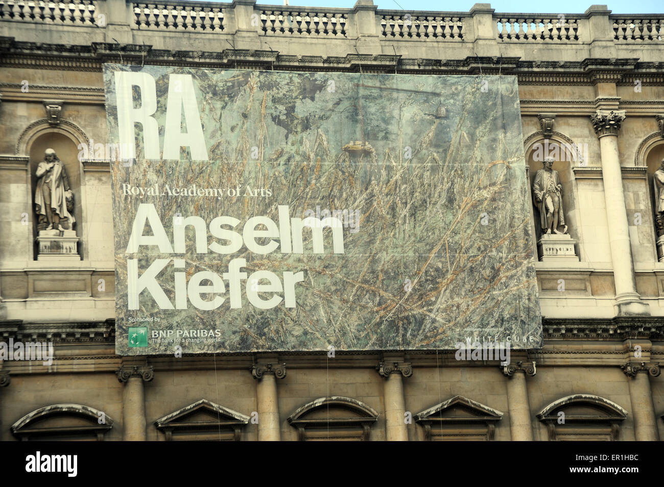 London, UK, 30 September 2014, Anselm Kiefer exhibition in forecourt of the Royal Academy of Arts in Piccadilly. - Stock Image