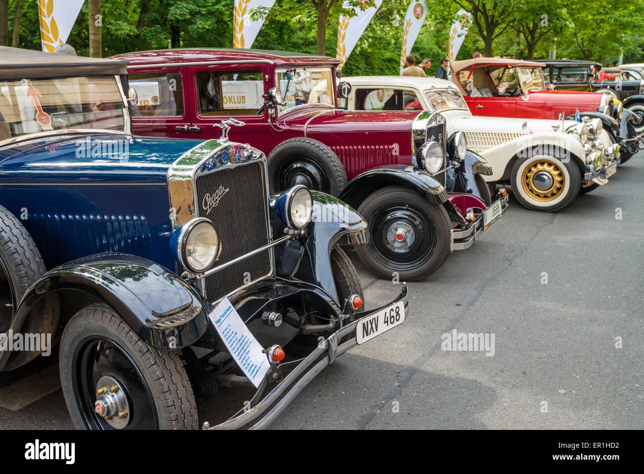 Vintage Praga on the meeting veteran cars, Prague, Czech republic ...