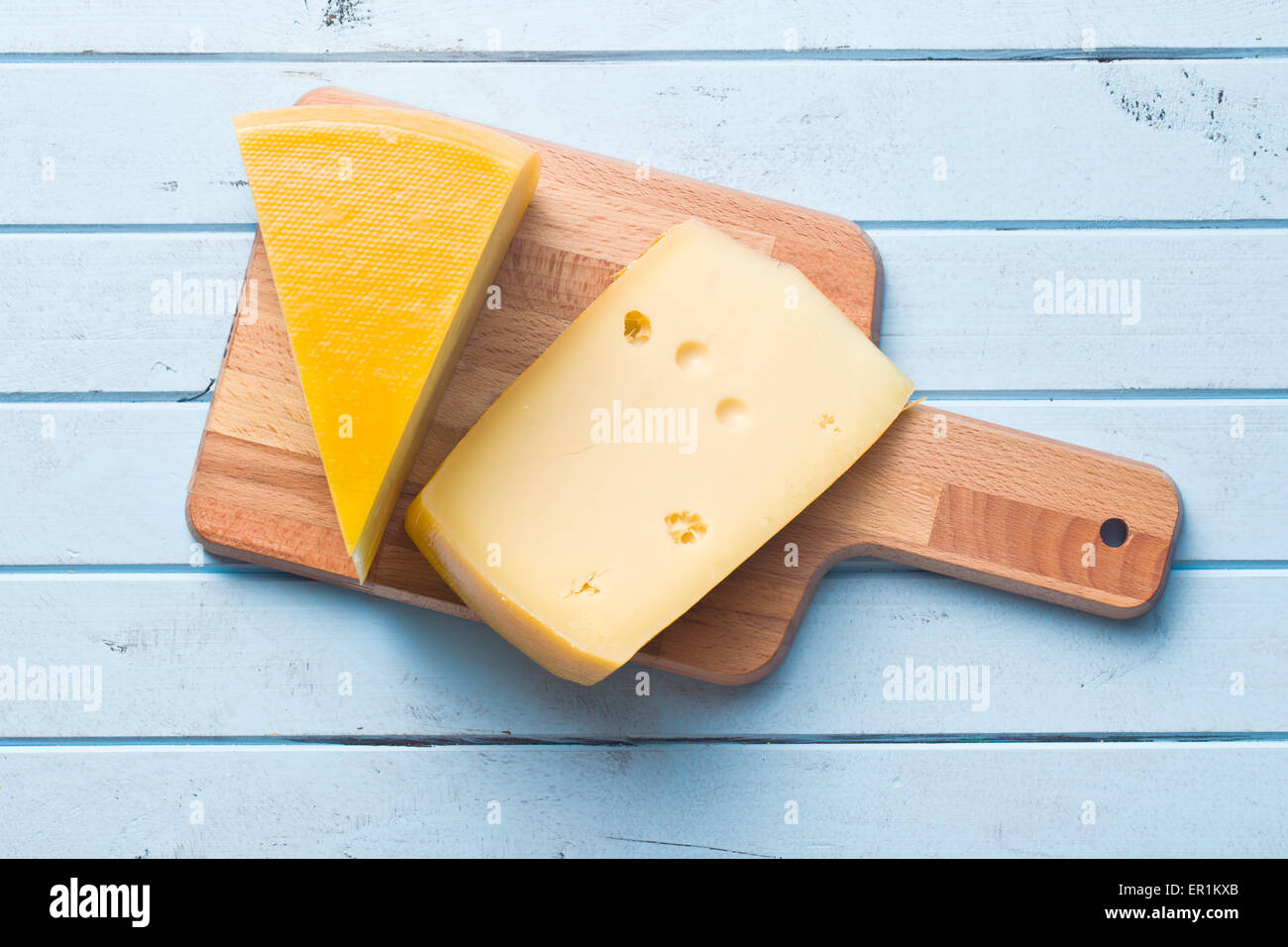 top view of edam cheese - Stock Image