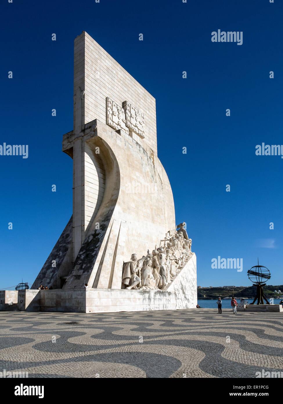 Monument to the Discoveries (Padrão dos Descobrimentos) at Belem, Lisborn - Stock Image