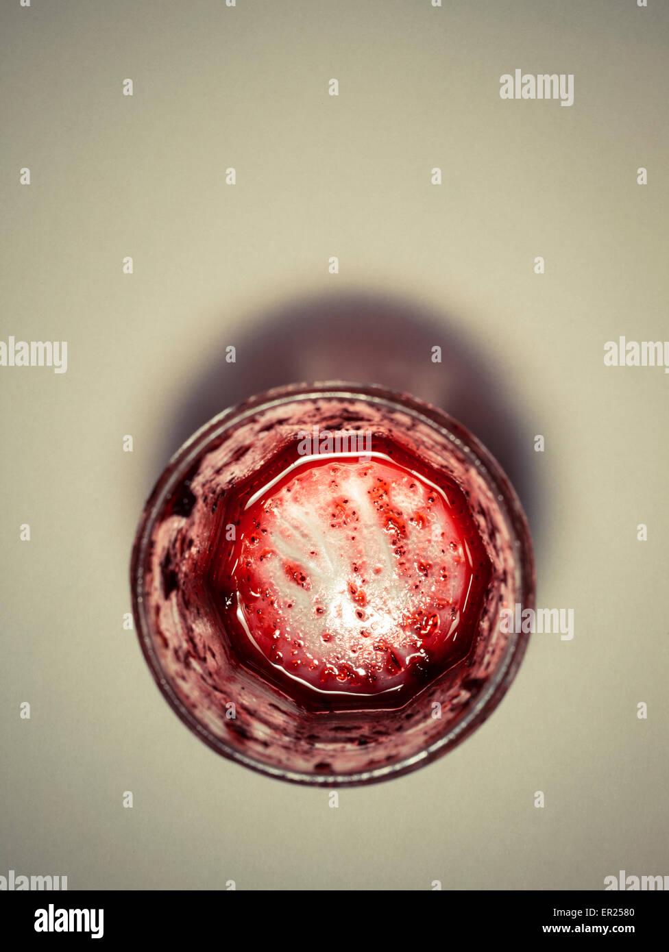 empty pot marmelade - Stock Image