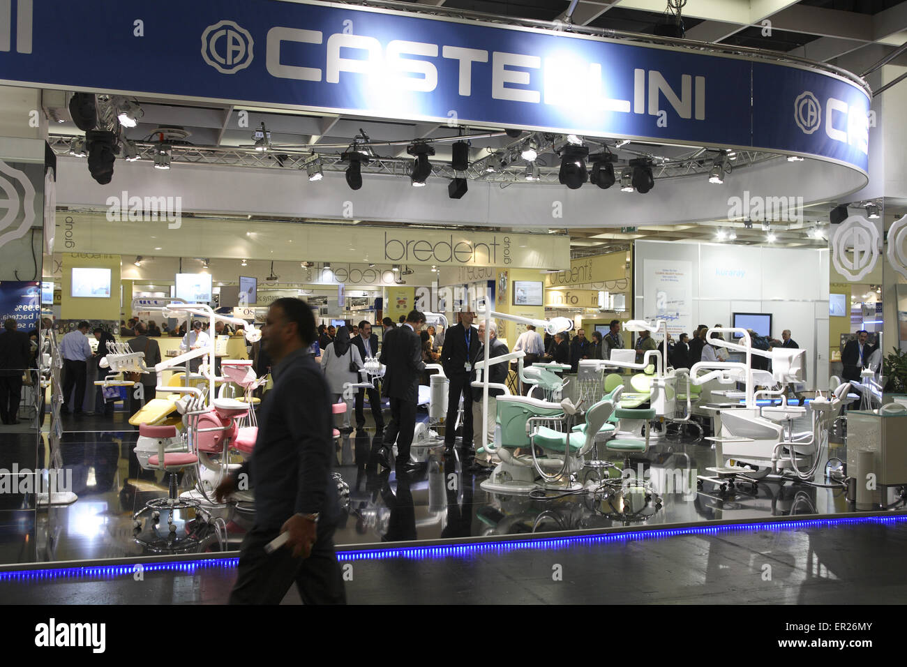 DEU, Germany, Cologne, International Dental Show at the exhibition center Koelnmesse [the IDS is the biggest Dental Stock Photo