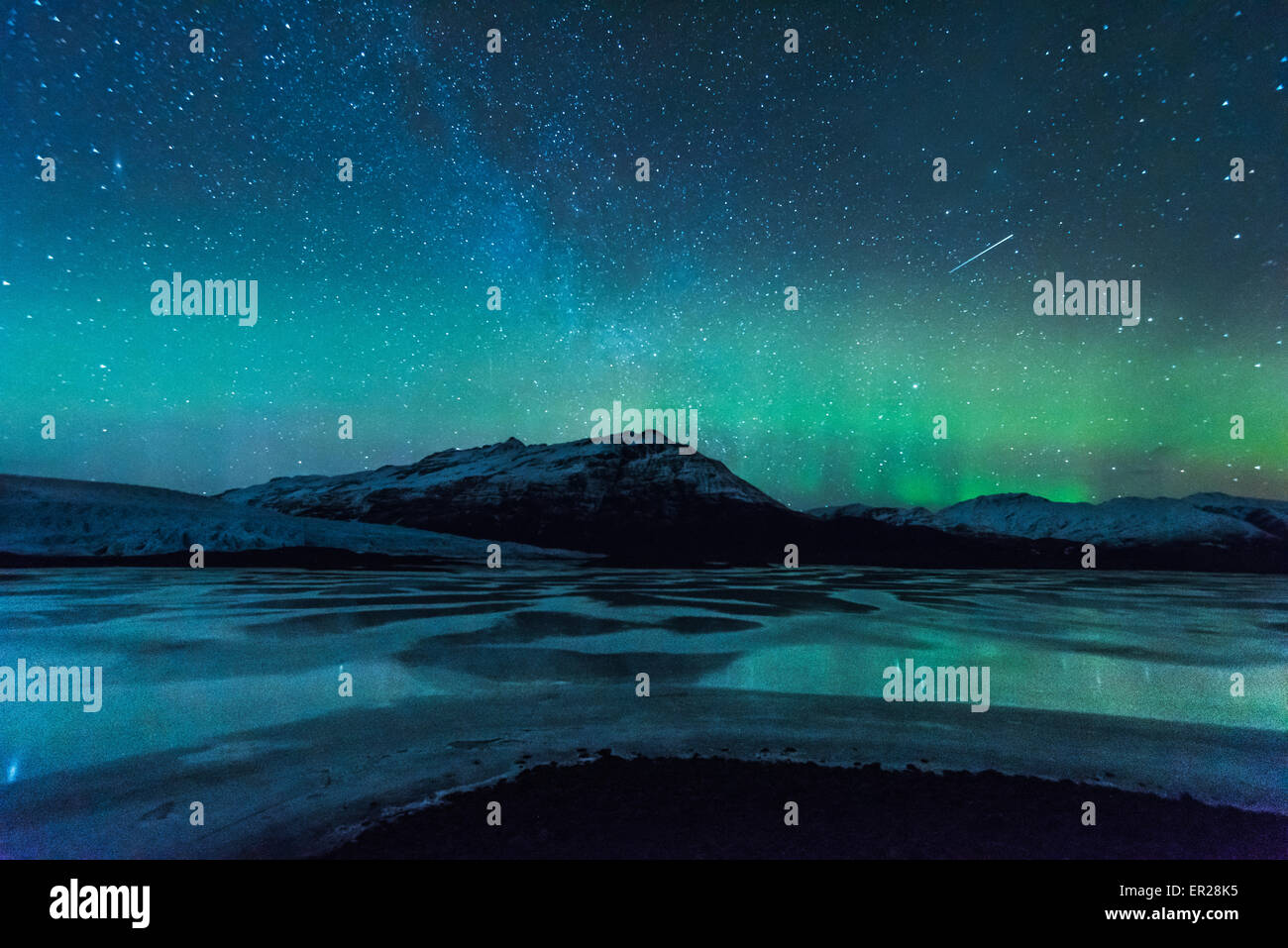 Aurora over Iceland - Stock Image